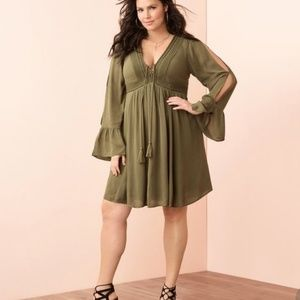 Torrid size 0 Olive green dress
